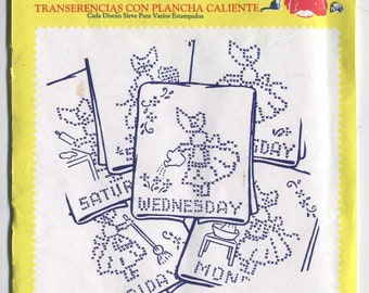 Various BOY and GIRL Designs - Hot Iron Embroidery Transfers - Aunt Martha's - New & Uncut in OPENED Packaging - On Sale!