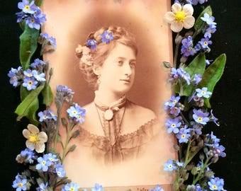 CDV Antique Photo - Woman of Wien , Vienna Austria 1873 - Carte de Visite - Vintage Photo