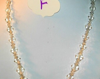 Vintage Bicone Crystal Choker  #F