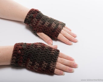 Kylie Wristlets in Earth - Hand Wrist Warmers Fingerless Gloves Gauntlets Mittens - Ready to Ship