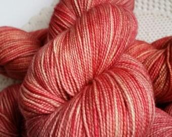Fingering, Strawberry Lemonade:  80/20 First-String PLUS SW Merino/Nylon