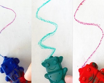 Novelty wax crayons,  handmade, proceeds to charity
