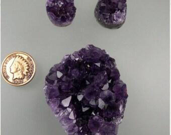 Amethyst Crystal Button Cabochons, Amethyst Cabochons, Purple Amethyst Cabs, Designer Amethyst Cabs, Amethyst Gift Cabs, C1253, 49erMinerals