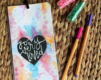 So Very Loved Midori Dashboard with Pocket Original Watercolor Art Print - Traveler's Notebook