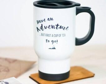 Adventure Travel Mug | Gift | Mug | Thermal Mug | Personalised | Tea | Coffee | Drinkware | For Him