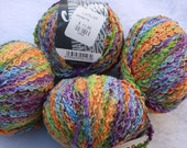 4 Balls Variegated Aran Yarn by Lana Grossa called Croisette made in Italy