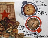 COFFEE LOVE, custom listing for Joy, thank you