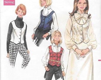 Butterick 5081 Women's 60s Easy Misses' Vest Sewing Pattern Size 12, Bust 34