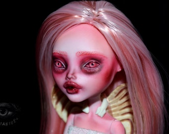 ON SALE monster high repaint custom doll artist ooak pink reroot cupid - Framboise
