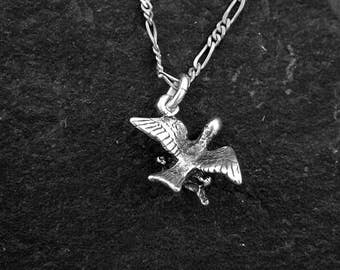 Sterling Silver Songbird Pendant on a Sterling Silver Chain