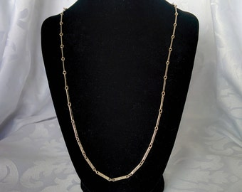 Silver Tone Flat Linked Necklace, Silver Tone Chain, Silver Chain, Silver Necklace