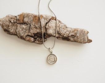 Arizona, Stamped Arizona Necklace, Arizona Jewelry, State Jewelry, Arizona Charm, AZ