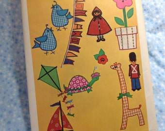 Vintage Simplicity Pattern 8810 - Appliqué Transfers, Children's Appliqués , Clothing Appliques
