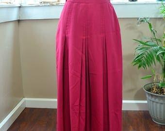 Vintage Pink Nordstrom Cricketeer Skirt Long Skirt - M