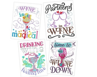 Kitchen Wine Cute Quotes   Machine Embroidery Designs   4x4 And 5x7   Kitchen  Towels Embroidery Part 73
