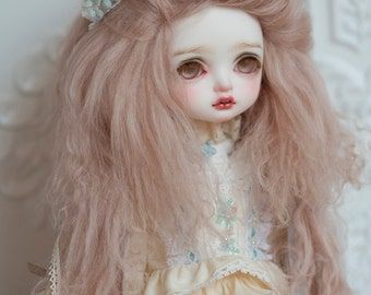 "10in"" Long Linen Tibetan Mohair Wavy Wig for Volks BJD SD and Pullip Dolls"