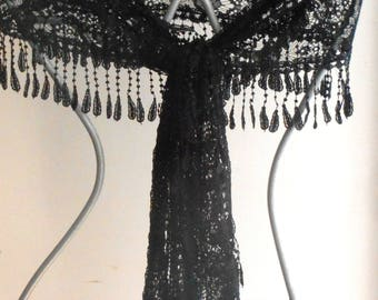 Lace scarf,Sexy Lace Shawl,Black Lace Scarf,Black Funeral Shawl,Black Mourning Veil,Black Lace Mourning Shawl,Black veil,Black Lace Veil