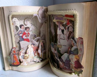 Fairy Tales from Grimm 1909 Altered book Pop up Style