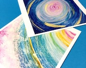 CUSTOM LISTING for ShatteredHues - 2 Abstract Swirl 5x5 Prints