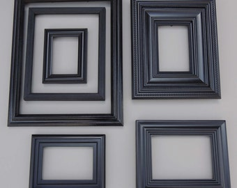 6 black gallery picture frame black picture frame set wall gallery frames wood picture frames frame with glass frame collection