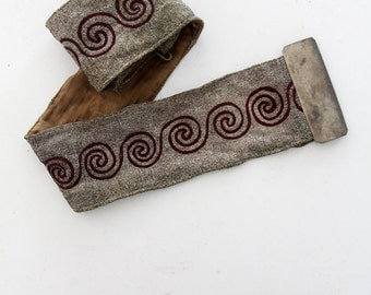 American lodge regalia belt, masonic sash circa 1920
