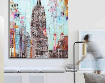 """new york, Painting, 60"""" Abstract Painting ,,, Wall Art   from Joilina Anthony"""