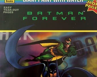 Batman Forever GIANT Paint with Water Book, UNUSED