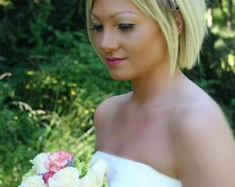 Bridal Rhinestone Headband, Bridal Headpiece, Rhinestone Headband, Bridal Headband