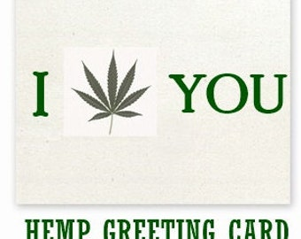 HEMP GREETING CARD - Custom Made - Hemp Paper - Sustainable - Post Consumer - Recycle - Birthday Cards - Anniversary Cards - Gift Cards