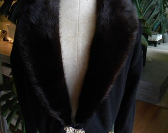 The little black cashmere and mink fur sweater