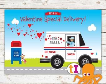 Mail Truck Valentine for Kids