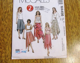 RESERVED Layered Skirt - EASY 2 Hour Skirt w/ Handkerchief Hemline / Fairy Flutter Skirt - Size (Xs-S-M) - UNCUT Sewing Pattern McCalls 4456