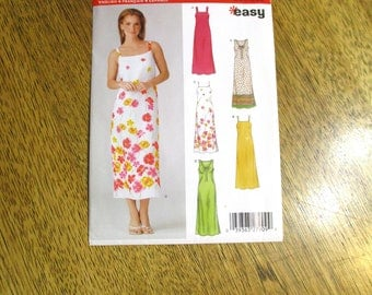 BOHO Easy Fitting Summer Dress - EASY A-Line Sleeveless Sundress - Sizes (10 - 22) - UNCUT Sewing Pattern New Look 6371