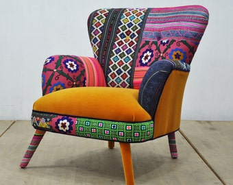 Patchwork armchair sweet honey - II