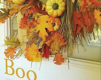Boo Door Decal - Halloween Decal - Holiday Decor - Home Decor Porch Decor - Halloween Decor Vinyl Decal - Boo Vinyl Decal
