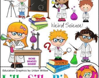 Science Education Clip art - Graphics small educational business use, chemistry, mad scientist, science experiments, Cute science graphics.