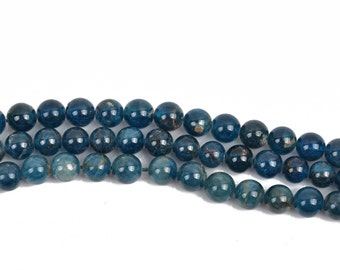6mm ROUND BALL APATITE Gemstone Beads, full strand, 68 beads, gap0004