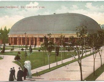Mormon Tabernacle Salt Lake City Utah in 1907 Vintage Postcard by Calaway, Hook & Francis 100 Years old Ephemera Old Postcard Vintage Paper