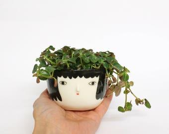 Pot head - Porcelain cache pot