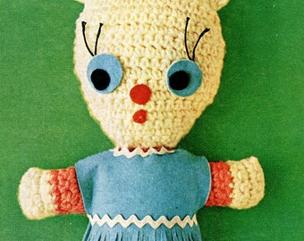 1960's Baby Bunny Crocheted Instant Download PDF Pattern