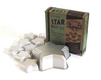 Mirro Aluminum Tart Tins Star Cake Pan Jello Mold Mini Shape Baking Pans
