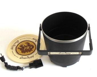 Presto Gran Pappy Deep Fryer 1970s Vintage Small Appliance Black Model 0541002
