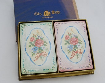 Vintage City of Paris San Francisco Department Store Union Square Playing Cards - 1950's Sealed Decks - New in Box Never Used - Advertising