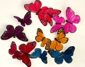 NEW ITEM! Dark Rainbow Feather Butterfly Garland / Wedding Decorations / Artificial String of Butterflies / Bridal Decor / Party