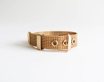 Gold Mesh Belt Buckle Vintage Avon Bracelet