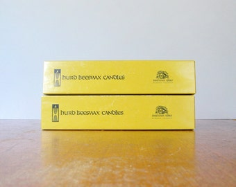Vintage Unused Hurd Beeswax Twisty Candles Freemark Abbey California