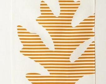 Linen Tea Towel - Oak in Copper