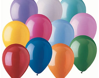 """STANDARD ASSORTMENT PartyLoons 12"""" Latex Helium Balloons. Your Choice of Quantity with Free Shipping!"""