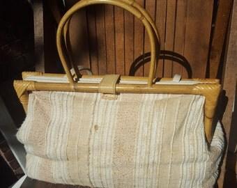 EMPRESS    ///     Large Linen Bamboo Bag