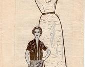Great Vintage 1960s Anne Adams 4898 Mail Order Half Size Slim Sheath Dress and Seam Interest Bolero Jacket Sewing Pattern B39